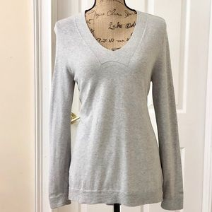 Tommy Hilfiger cotton knit v neck soft sweater